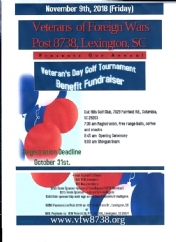 Come Play in our Tournament Nov. 9th, 2018 at Oaks Hills Country Club